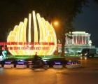 Hệ thống chiếu sáng, cổ động trực quan chào mừng Đại hội XIII của Đảng rực rỡ trong đêm