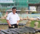 Lắp đặt 13 bộ đàn đá lớn nhất Việt Nam chào mừng 61 năm Bến Tre Đồng Khởi