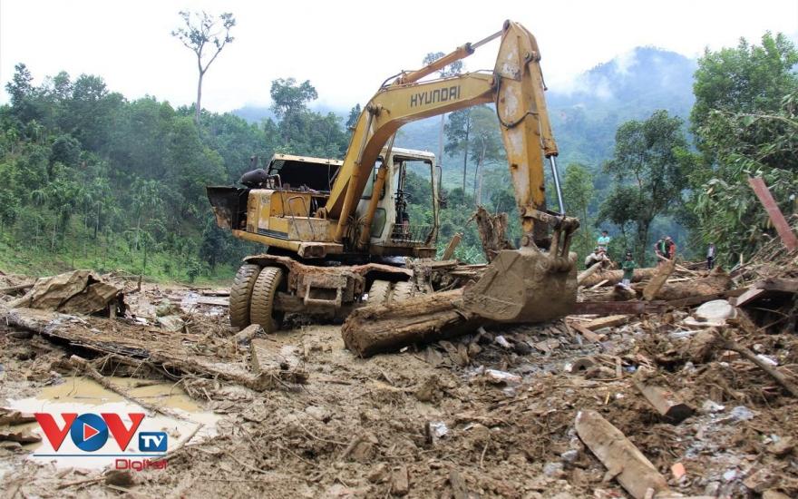 Khu vực sạt lở ở xã Trà Leng được tìm kiếm rất kỹ