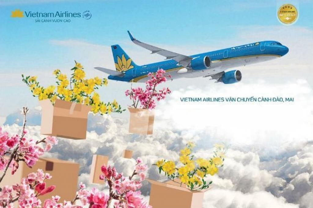 Vietnam Airlines vận chuyển cành đào, cành mai dịp Tết Tân Sửu 2021 - Ảnh 1.