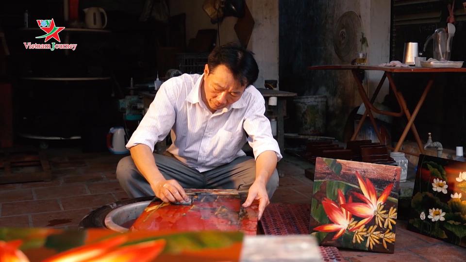 Độc đáo nghệ thuật sơn mài Hạ Thái