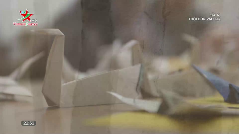Thổi hồn giấy dó vào nghệ thuật origami