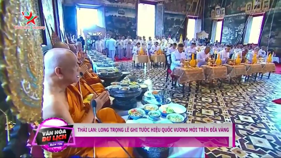 Thái Lan: Long trọng lễ ghi tước hiệu Quốc vương mới trên đĩa vàng
