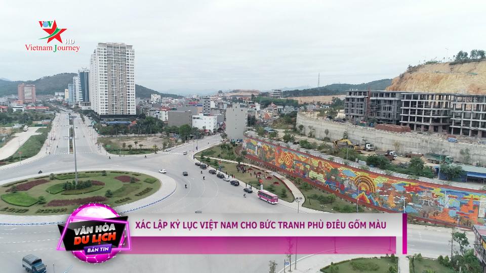 Xác lập kỷ lục Việt Nam cho bức tranh phù điêu gốm màu tại Quảng Ninh