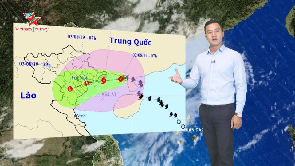 Dự báo thời tiết chiều và tối ngày 2/8   Bão số 3 - bão WIPHA đi vào đất liền