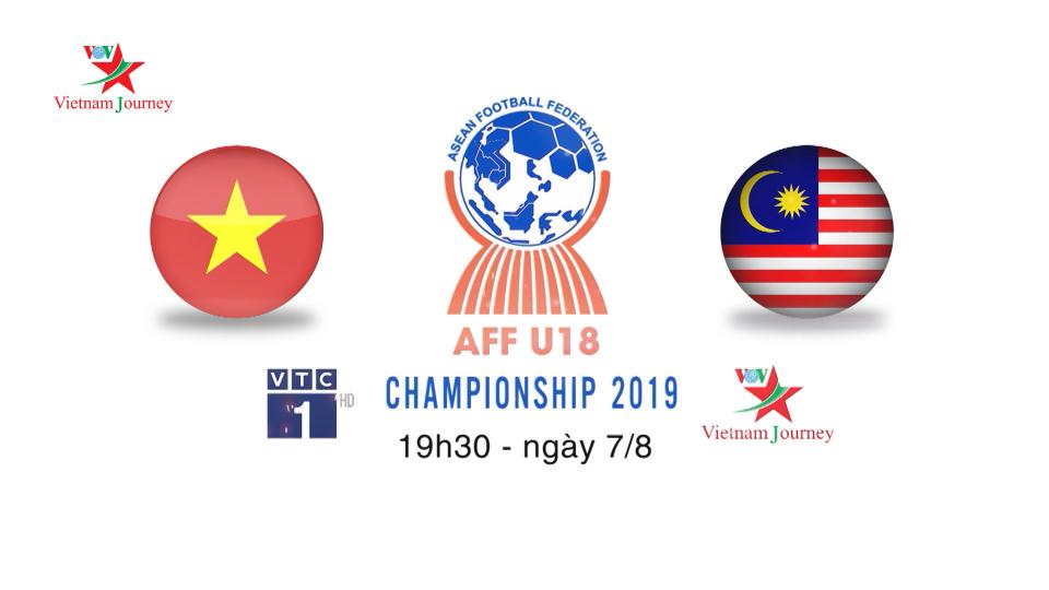 Giải vô địch bóng đá U18 Đông Nam Á: 19h30 ngày 7/8 U18 Việt Nam gặp U18 Malaysia