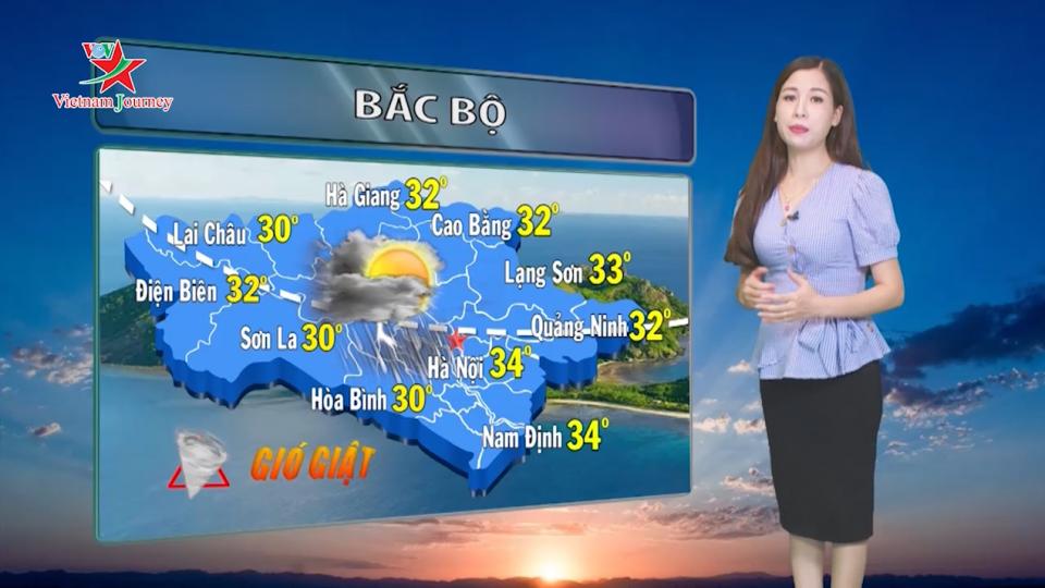 Dự báo thời tiết ngày 9/8/2019