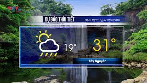 Dự báo thời tiết đêm 18/10 và ngày 19/10/2021 | Bắc và Trung Bộ có mưa to đến rất to