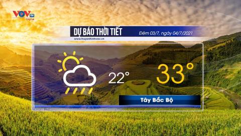 Dự báo thời tiết đêm 3/7 và ngày 4/7/2021 | Bắc Bộ nắng nóng gay gắt