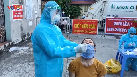 Hà Nội: Lấy mẫu xét nghiệm toàn bộ người liên quan đến ổ dịch phường Việt Hưng