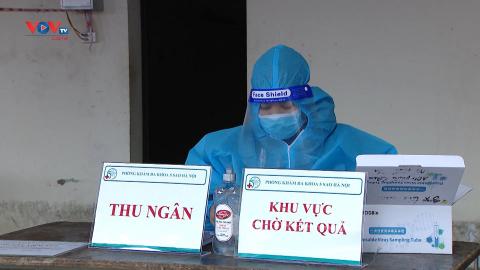 Hà Nội tổ chức test nhanh Covid-19 cho khách đi xe liên tỉnh