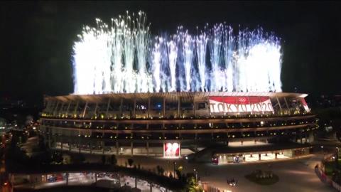 Màn pháo hoa rực rỡ khai mạc Olympic Tokyo 2020