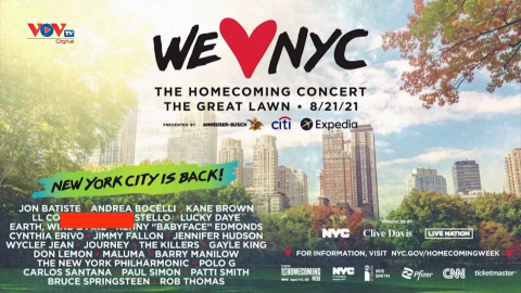 New York: Hòa nhạc miễn phí đánh dấu sự trở lại sau đại dịch